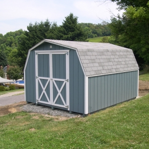 10x12 Mini Barn With Painted T1-11 Siding