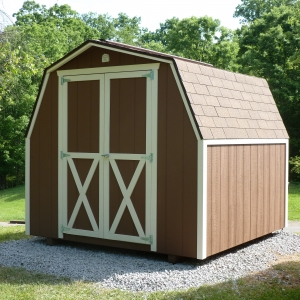 8x8 Mini Barn With Painted T1-11 Siding